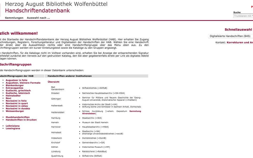 Wolfenbütteler Digitale Bibliothek (WDB)