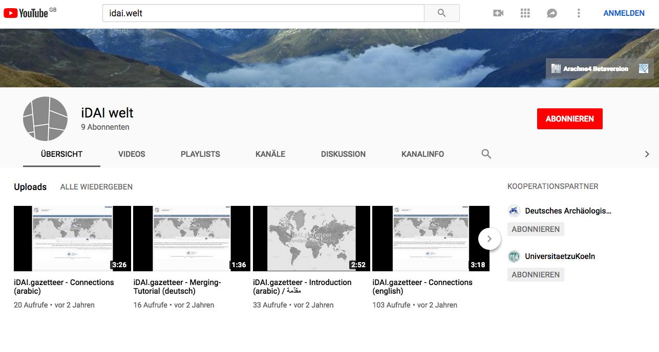 YouTube-Kanal iDAI.welt